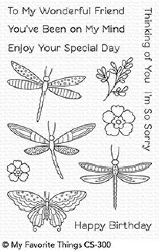 "My Favorite Things Stempelset ""Fluttering Friends"" Clear Stamp Set"