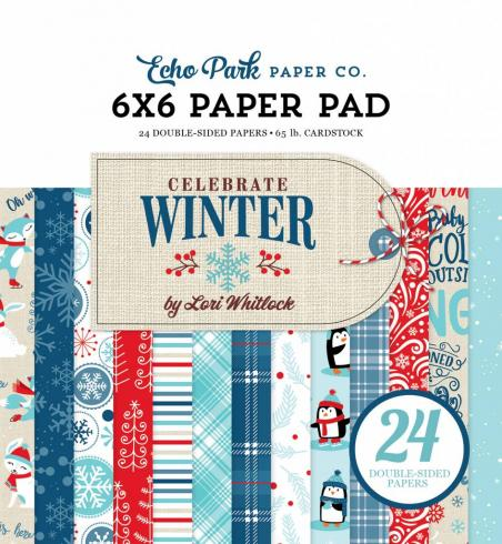 "Echo Park ""Celebrate Winter"" 6x6"" Paper Pad..."