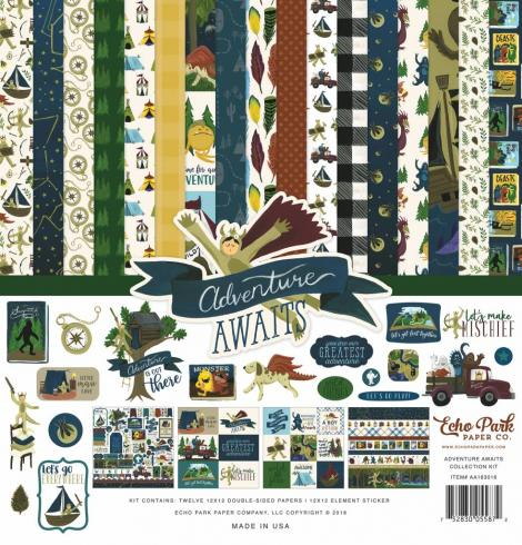 "Echo Park ""Adventure Awaits"" 12x12"" Collection Kit..."