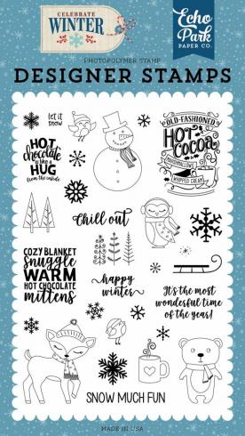 "Echo Park Stempelset ""Happy Winter"" Clear Stamp..."