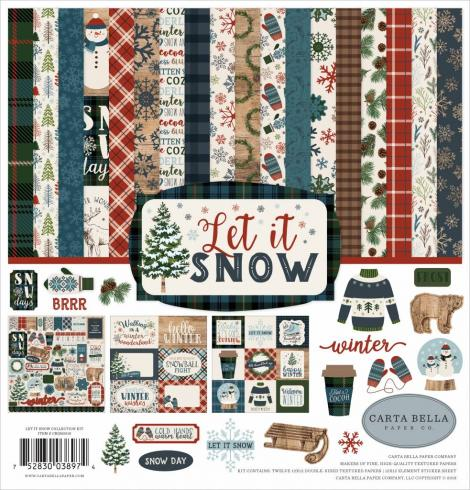"Carta Bella ""Let It Snow"" 12x12"" Collection Kit..."