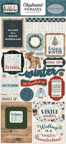 "Carta Bella ""Let It Snow"" Chipboard - Sticker..."