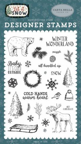 "Carta Bella ""Cold Hands, Warm Heart"" Stempelset..."