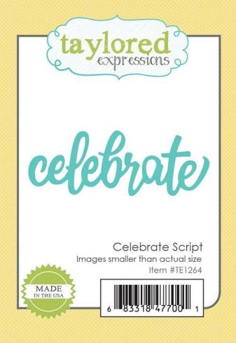 "Taylored Expressions Craft Die ""Celebrate Script""..."