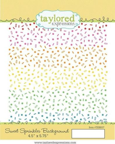 "Taylored Expressions Craft Die ""Sweet Sprinkles Background""..."
