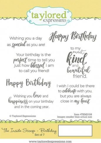 "Taylored Expressions Stempelset ""The Inside Scoop - Birthday"" Clear Stamp..."
