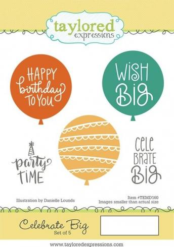 "Taylored Expressions Stempelset ""Celebrate Big"" Clear Stamp..."