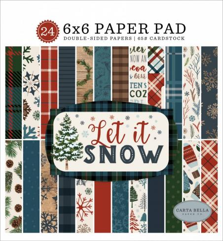 "Carta Bella ""Let It Snow"" 6x6"" Paper Pad..."