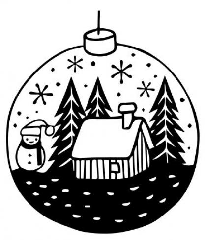 "Aladine Stempel ""Small Christmas Ball"" Wooden Stamp - Holzstempel"