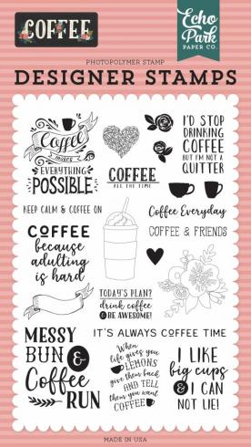 "Echo Park Stempelset ""Coffee Time"" Clear Stamp"