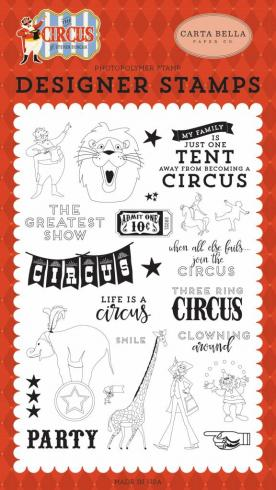 "Carta Bella ""The Greatest Show"" Stempelset - Clear Stamp"