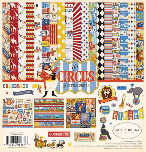 "Carta Bella ""Circus"" 12x12"" Collection Kit"