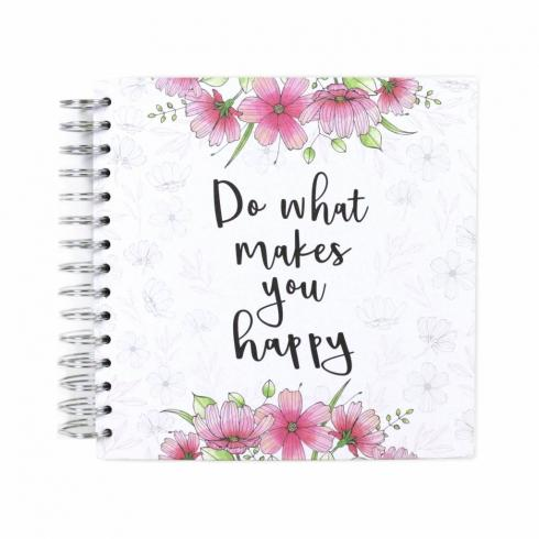 "Simply Creative Scrapbook Album ""Do What Makes You Happy"" 8""x8"""