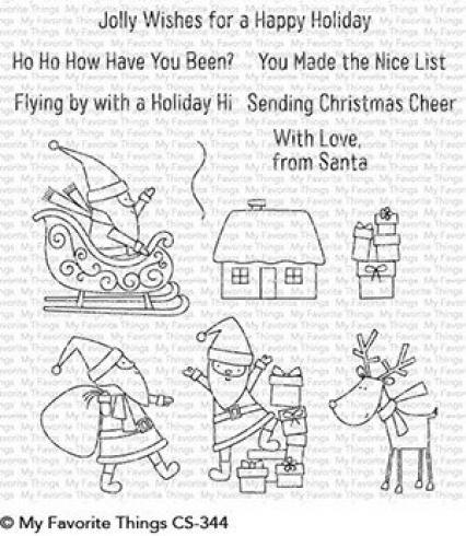 "My Favorite Things Stempelset ""Here Comes Santa Claus"" Clear Stamp Set"