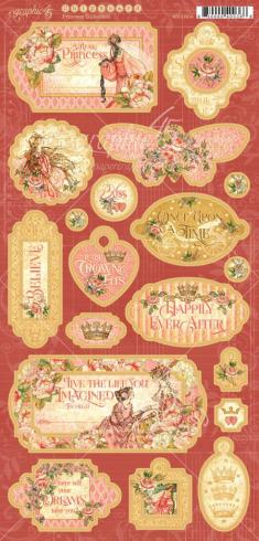 "Graphic 45 ""Princess"" Chipboard - Sticker"