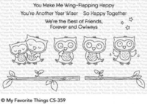"My Favorite Things Stempelset ""Forever and Owlways"" Clear Stamp Set"