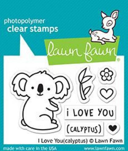 "Lawn Fawn Stempelset ""I Love You(calyptus)"" Clear Stamp"