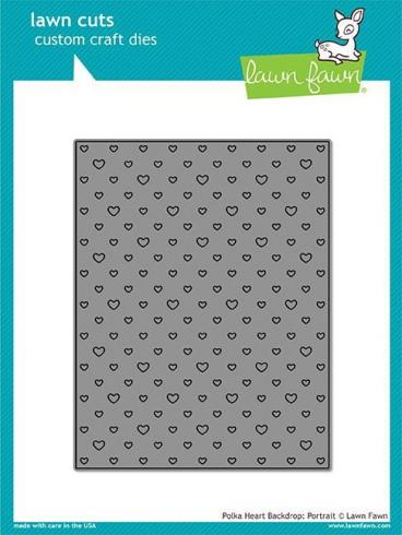 Lawn Fawn Craft Die - Polka Heart Backdrop: Portrait