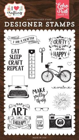 "Echo Park Stempelset ""I am A Crafter"" Clear Stamp"