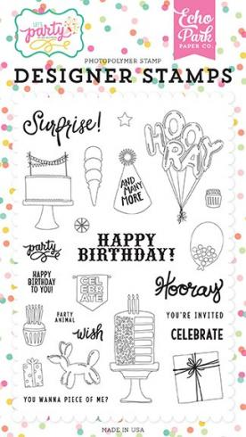 "Echo Park Stempelset ""Party Animal"" Clear Stamp"