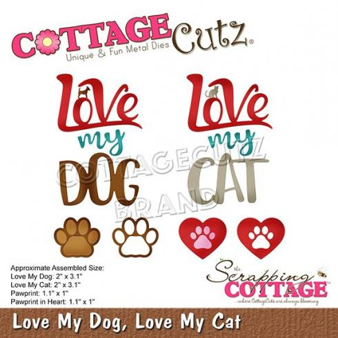 Scrapping Cottage Die - Love My Dog, Love My Cat