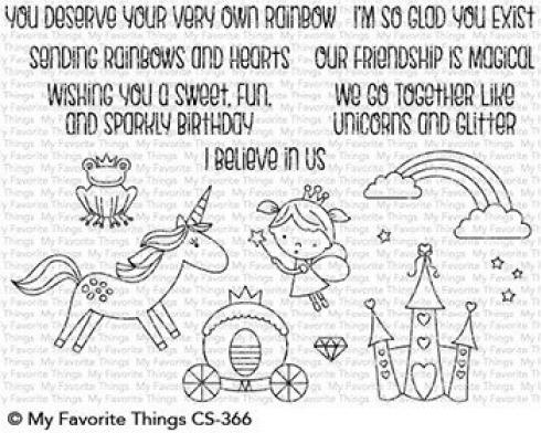 "My Favorite Things Stempelset ""Rainbows & Unicorns"" Clear Stamp Set"