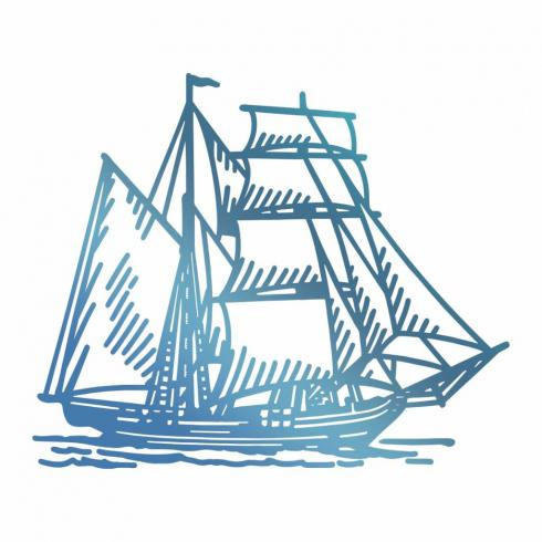 Couture Creations Hotfoil Stamp Die  - Tall Ship