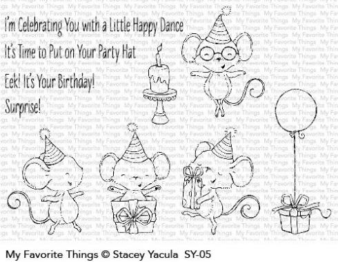 "My Favorite Things Stempelset ""It's a Mice Time to Celebrate"" Clear Stamp Set"