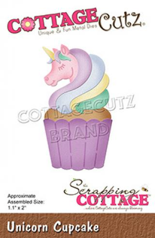 Scrapping Cottage Die - Unicorn Cupcake
