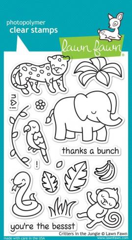 "Lawn Fawn Stempelset ""Critters In The Jungle"" Clear Stamp"