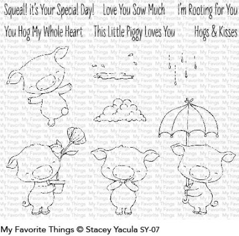 "My Favorite Things Stempelset ""Piggy Pebbles"" Clear Stamp Set"