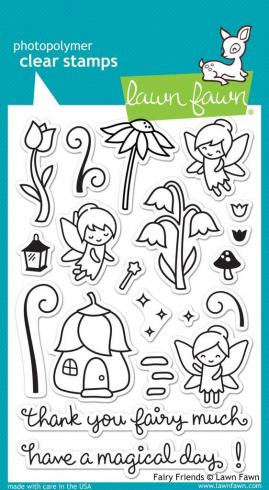 "Lawn Fawn Stempelset ""Fairy Friends"" Clear Stamp"