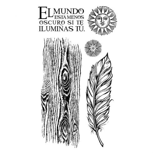 "Stamperia Stempel ""Cosmos Feather"" Natural Rubber Stamp - (Naturkautschukstempel)..."
