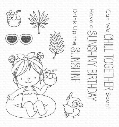 "My Favorite Things Stempelset ""Drink Up the Sunshine"" Clear Stamp Set..."