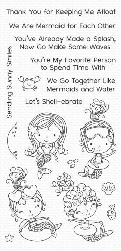 "My Favorite Things Stempelset ""Mermaid for Each Other"" Clear Stamp Set..."