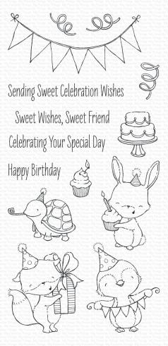 "My Favorite Things Stempelset ""Sending Sweet Celebration Wishes"" Clear Stamp Set"