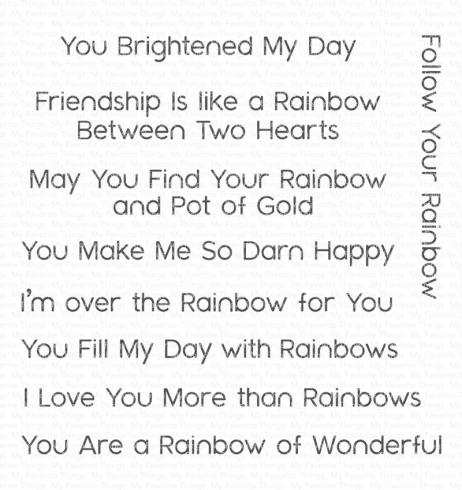 "My Favorite Things Stempelset ""Rainbow Greetings"" Clear Stamp..."