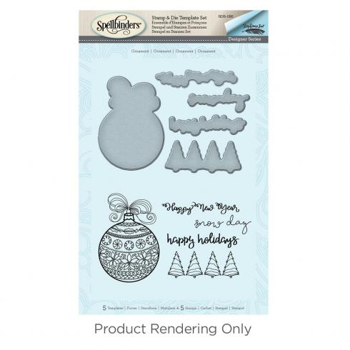 "Spellbinders Stempel & Stanzset ""Happy Holiday Ornaments"""