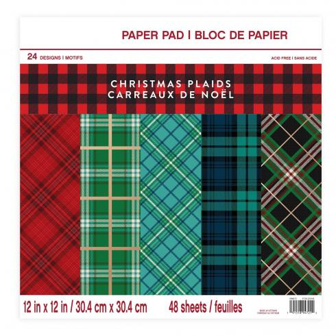 "Craft Smith ""Christmas Plaids"" 12x12"" Paper Pad"