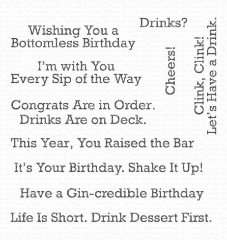 "My Favorite Things Stempelset ""A Toast To You"" Clear Stamp"