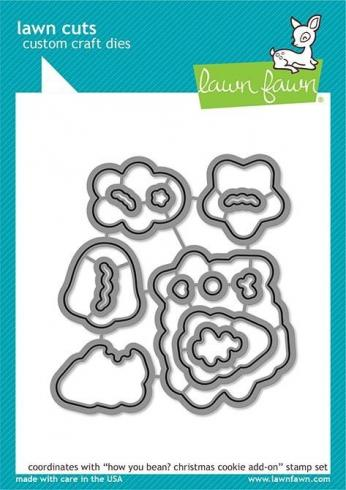 Lawn Fawn Craft Dies - How You Bean? Christmas Cookie Add-on