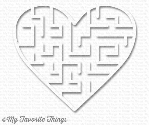 "My Favorite Things Maze Shapes ""White Heart"""