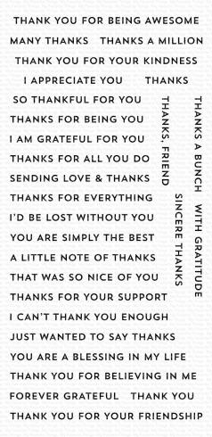 "My Favorite Things Stempelset ""Bitty Thanks & Gratitude"" Clear Stamp"