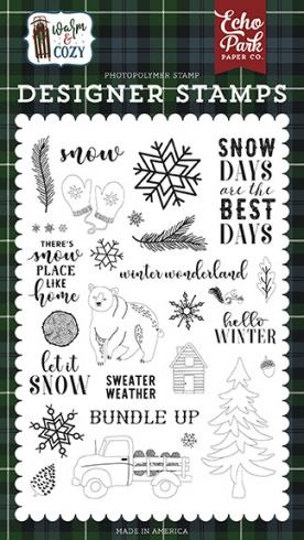 "Echo Park Stempelset ""Snow Days"" Clear Stamp"