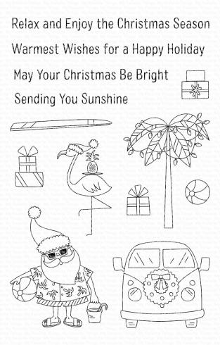 "My Favorite Things Stempelset ""Sun-Lovin' Santa"" Clear Stamp"