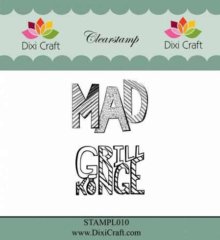 "Dixi Craft ""Danish Texts"" Stempelset - Clear Stamp-Set"