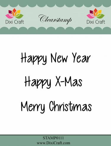 "Dixi Craft "" English Texts 2"" Stempelset - Clear Stamp-Set"