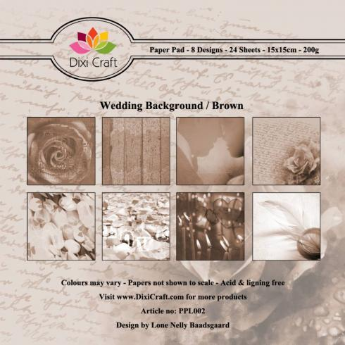 "Dixi Craft ""Wedding Background Brown"" 6x6"" Paper Pad"