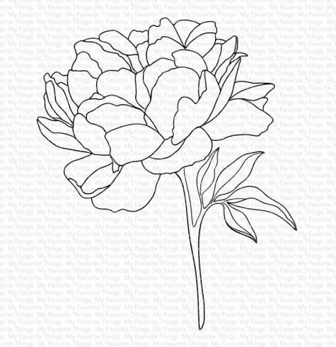 "My Favorite Things ""Peony Perfection Cling"" Cling Stamp"