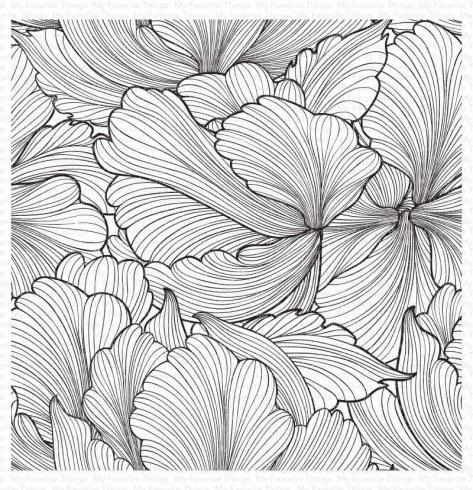 "My Favorite Things ""Floating Petals"" 6x6"" Background Cling Stamp"